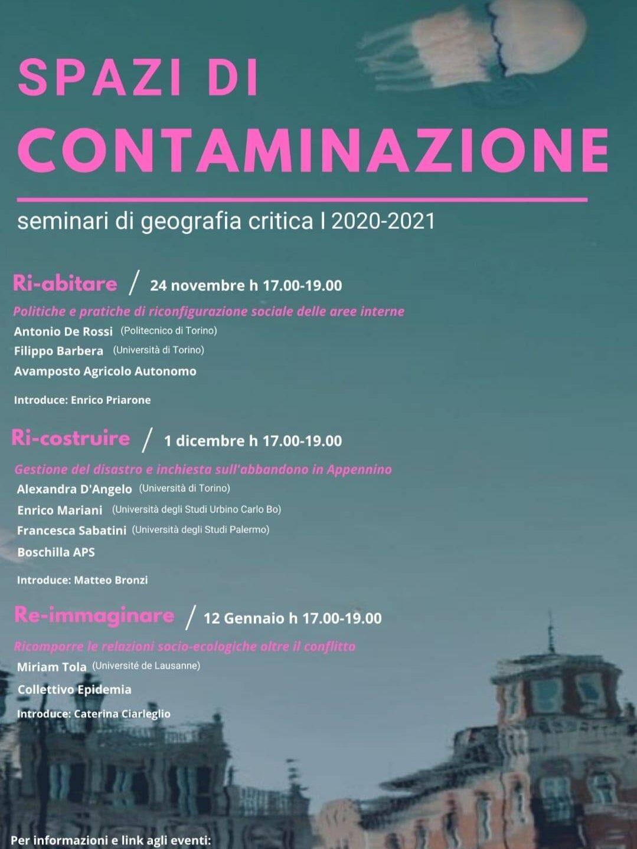 Spazi di contaminazione. Seminari di geografia critica. 2020-21