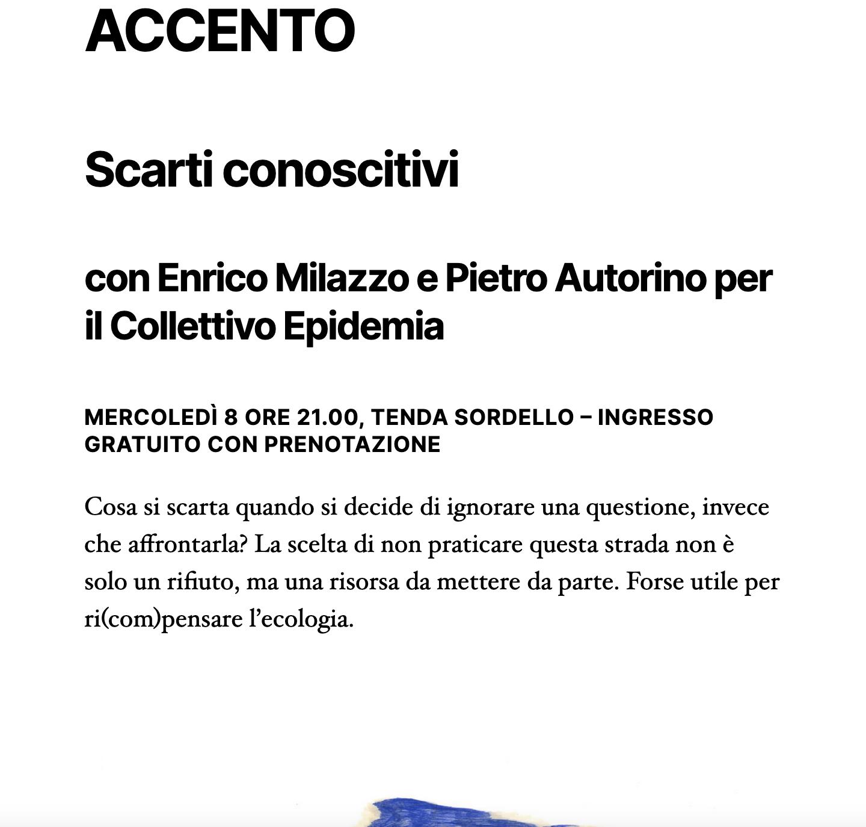 """8.09.21 – """"scarti conoscitivi"""" @festivalletteratura di Mantova xScienceGround xExTemporanea"""